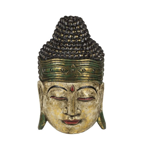 Cap Buddha, verde - gold antique, 40 cm