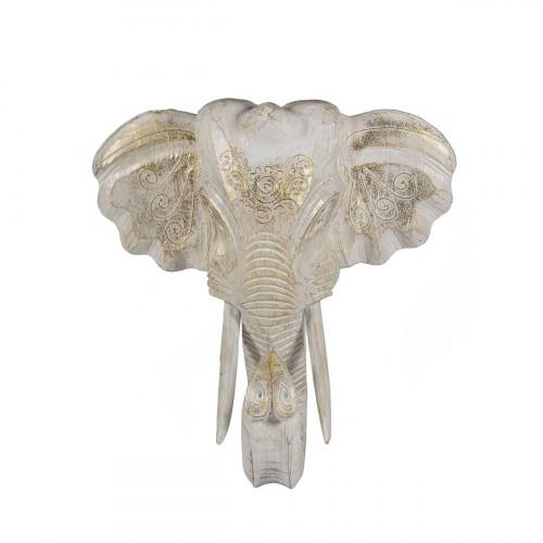 Cap elefant decor - alb 30 cm