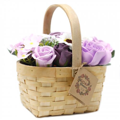 Aranjament flori sapun in cos de rachita